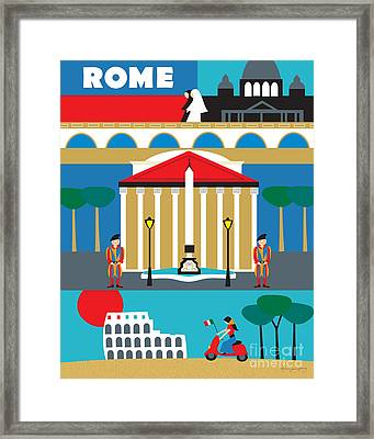 Rome Framed Print by Karen Young