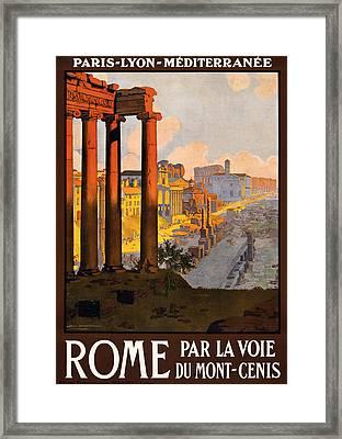 Rome Par La Voie Du Mont-cenis Framed Print by Georgia Fowler