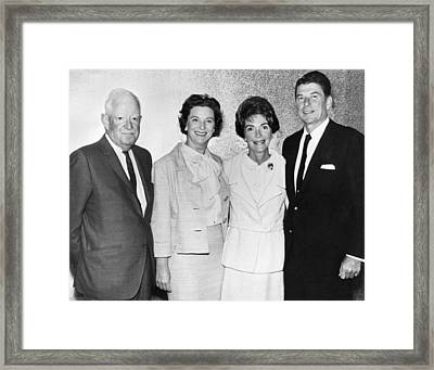 Ronald And Nancy Reagan Framed Print by Underwood Archives