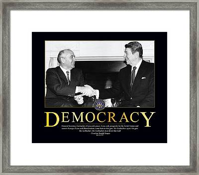 Ronald Reagan Democracy  Framed Print by Retro Images Archive