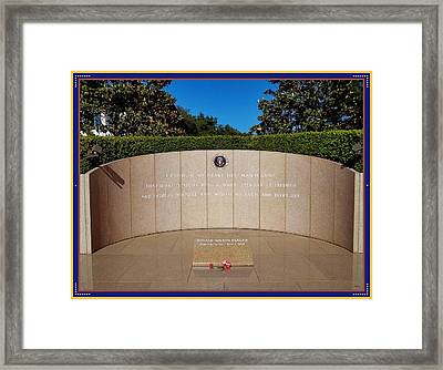 Ronald Reagan Memorial Site Framed Print by Glenn McCarthy Art and Photography