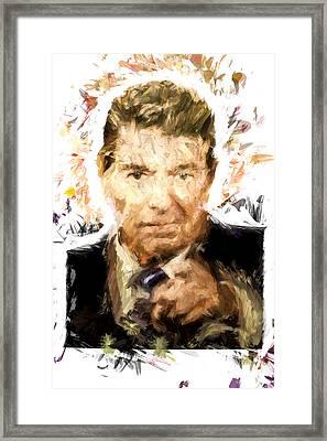 Ronald Reagan Framed Print by Vivian Frerichs