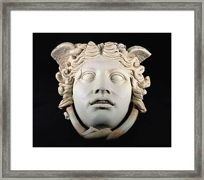Rondanini Medusa, Copy Of A 5th Century Bc Greek Marble Original, Roman Plaster Framed Print by .