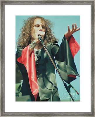 Ronnie James Dio Of Black Sabbath During 1980 Heaven And Hell Tour-2nd New Photo  Framed Print by Daniel Larsen
