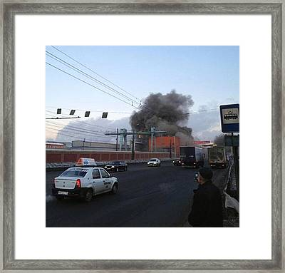 Roof Collapse After Chelyabinsk Meteor Framed Print by Science Photo Library