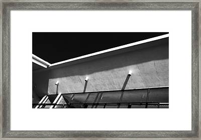 Roof Detail - Rust Hall - Memphis College Of Art Framed Print by Jon Woodhams