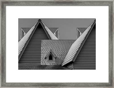 Roof Lines Framed Print by Debra and Dave Vanderlaan
