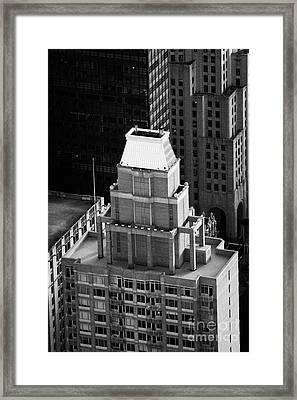 Roof Of The Belvedere Building New York City Framed Print by Joe Fox