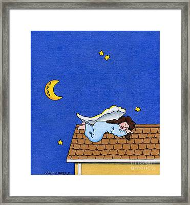 Rooftop Sleeper Framed Print by Sarah Batalka