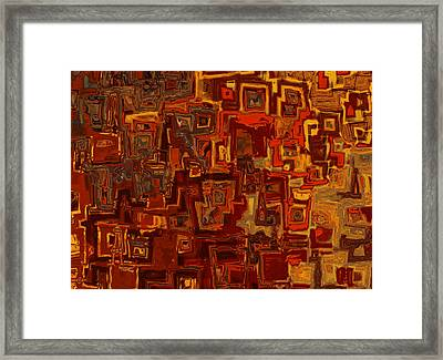 Rooftops Framed Print by Jack Zulli
