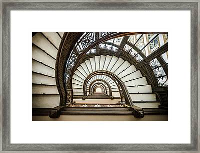 Rookery Building Oriel Staircase Framed Print by Anthony Doudt