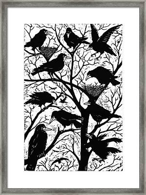 Rooks Framed Print by Nat Morley