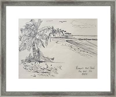 Roosevelt Blvd Beach  Key West Fla Framed Print by Diane Pape