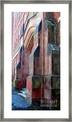 Roosevelt School Entrance Framed Print by Janine Riley