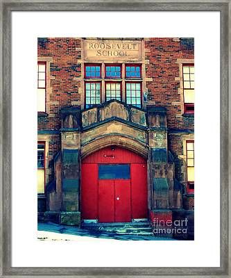 Roosevelt School Framed Print by Janine Riley