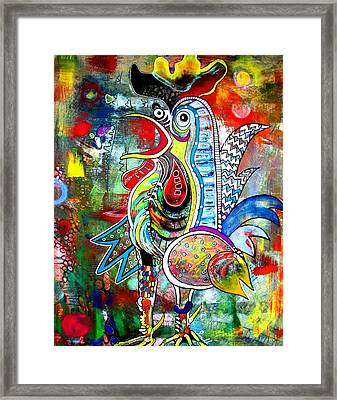 Rooster Framed Print by Amy Sorrell