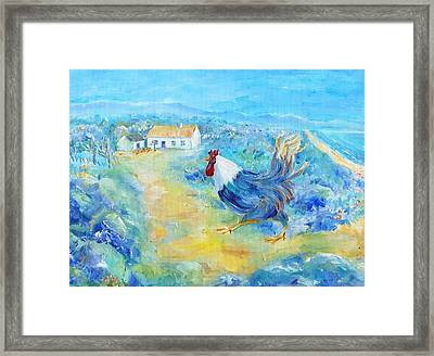 Rooster On Dingle Peninsula  Framed Print by Trudi Doyle
