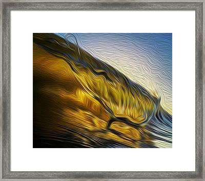 Rootbeer Lip Framed Print by David Alexander