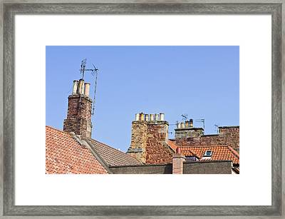 Rooves And Chimneys Framed Print by Tom Gowanlock