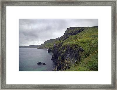 Rope Bridge Paradise Ireland Framed Print by Betsy Knapp