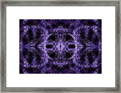 Rope Mantra 8 Framed Print by Lynda Lehmann