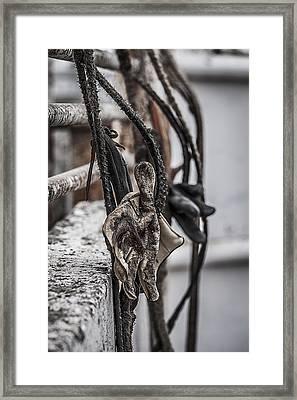 Ropes And Gloves Framed Print by Amber Kresge