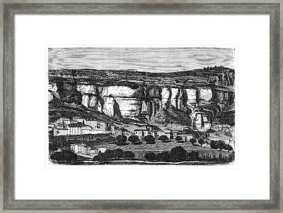 Roquefort Cheese Caves Framed Print by Science Photo Library