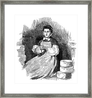 Roquefort Cheese Production Framed Print by Science Photo Library