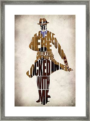 Rorschach Framed Print by Ayse Deniz