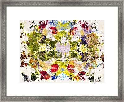 Rorschach Test Framed Print by Darice Machel McGuire