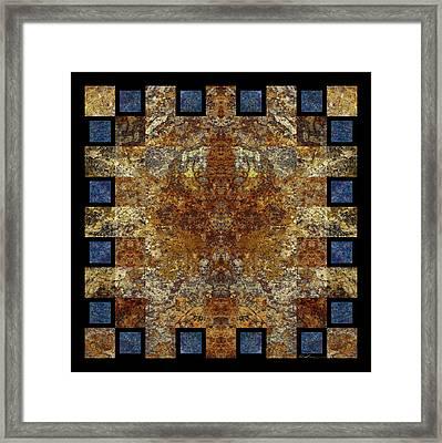 Rorshach Yantra Nine Oh Four Framed Print by Bruce Ricker