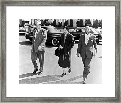 Rosa Parks Going To Jail Framed Print by Underwood Archives