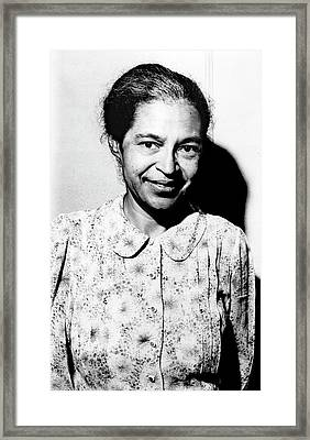 Rosa Parks Framed Print by Library Of Congress
