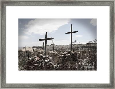 Rosary For The Dead Framed Print by April Davis