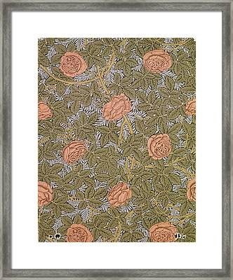 Rose 93 Wallpaper Design Framed Print by William Morris