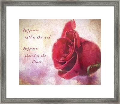 Rose Art - Happiness Shared Framed Print by Jordan Blackstone