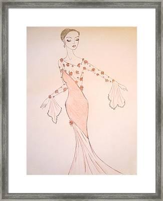 Rose Chiffon Framed Print by Christine Corretti