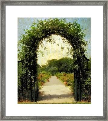 Rose Garden Corridor Framed Print by Jessica Jenney
