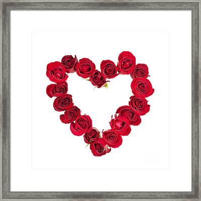 Rose Heart Framed Print by Elena Elisseeva
