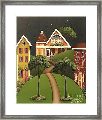 Rose Hill Lane Framed Print by Catherine Holman
