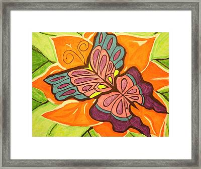 Rose Landing Framed Print by Erica  Darknell