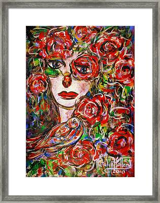 Rose Framed Print by Natalie Holland