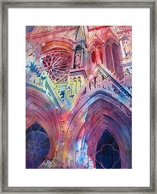 Rose Window Framed Print by Kris Parins