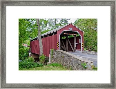 Rosehill Covered Bridge Framed Print by Guy Whiteley