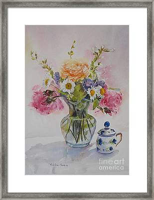 Roses And Daisies Framed Print by Beatrice Cloake