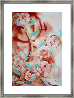 Roses And Rust Framed Print by Asha Carolyn Young