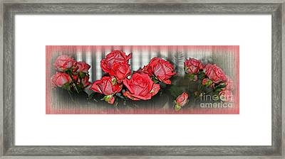Roses By The Window By Kaye Menner Framed Print by Kaye Menner