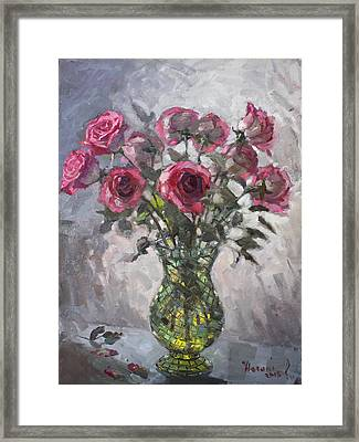 Roses For Viola 2 Framed Print by Ylli Haruni