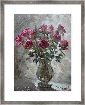 Roses For Viola Framed Print by Ylli Haruni