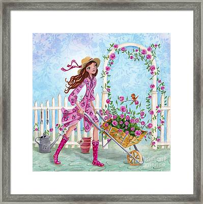Roses For You Framed Print by Caroline Bonne-Muller